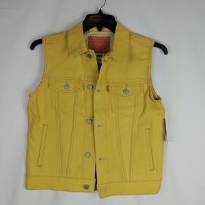 NEW Levis Mustard Yellow Kids Cotton Denim Jean Bu